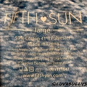 Fifth Sun Tops - Fifth Sun 'Hey Ya'll' Burn Out Crop Top, Jr Sz Lg